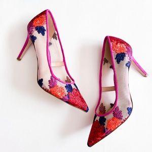 NWT Jessica Simpson Floral Fuchsia Stiletto Heels